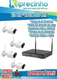 Kit 04 Câmeras IP Wifi + Dvr 04 Canais