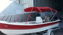 Barco de fibra casco duplo - 2018