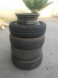 Jogo de jance com pneus aro 14
