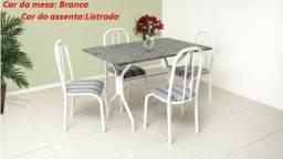 Lindo conjunto Granito Onix c/4 cadeiras - promoção