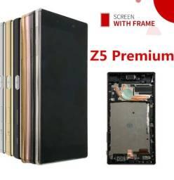 Frame completo para celular Sony Z5 Premium preto (touch+carcaça)