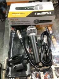 Microfone KSR KS58 novo, com acessórios