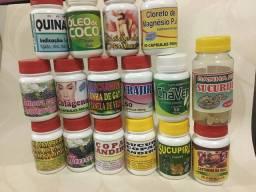 Suplementos naturais em cápsulas frasco c/50 cápsulas por 30,00