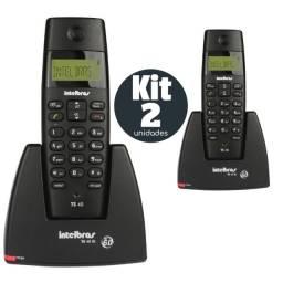 Kit Telefone Sem Fio Intel Ts40 C Intelbras + Ramal / Paracatu-MG