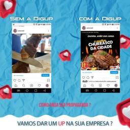 Trabalho com social media, administração de Instagram, criação de artes interativas