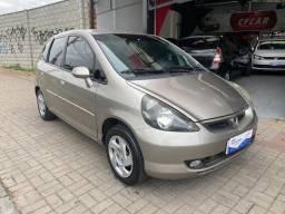 Honda Fit 1.4 - Lx 2005 / Completo + Couro Acc Troca