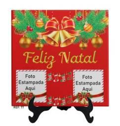 Azulejo personalizado com foto decoração de natal