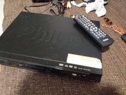 Dvd com microfone e controle remoto. Philips
