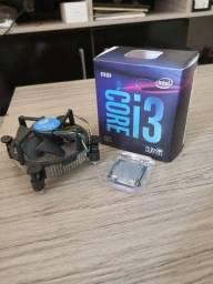 Processador intel core i3 9100F 3.6GHz (4.2GHz Turbo), 9ª geração 4-Core 4-Thread
