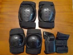 Kit proteção Roller skate patins
