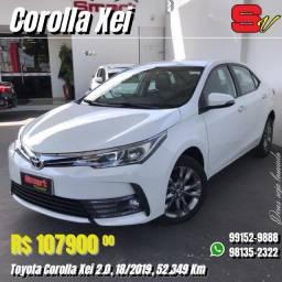 Título do anúncio: Smart Veículos - Toyota Corolla Xei 2.0, 18/2019, 52.349 Km. R$: 107.900,00