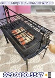 Título do anúncio:  veja as fotos! churrasqueira grande tambo brinde 2 pacote Carvão entrega gratis#@!