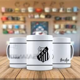 Santos Time de Futebol Caneca Personalizada Com Nome e qualquer time que quiser