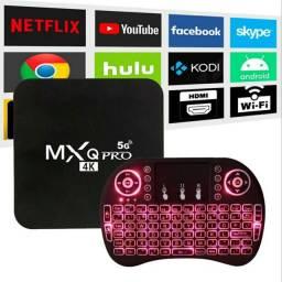 Título do anúncio: TV BOX MXQ PRO 4K 5G WIFI + MINI TECLADO - Converta sua TV em SMART TV