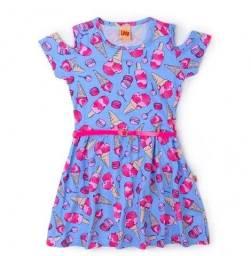 Vestido Sorvete Azul - Livy