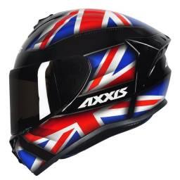 Capacete Axxis Drakken UK Preto ou Tricolor