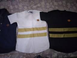 Kit de 3 camisas 3 a 4 anos 50 reais