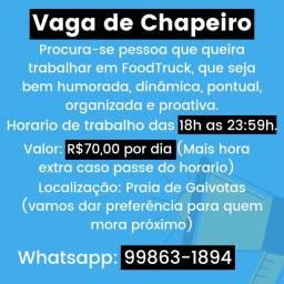 Título do anúncio: Vaga Chapeiro
