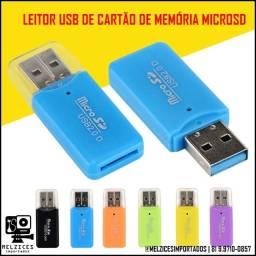 Leitor USB para Cartão de Memória MicroSD
