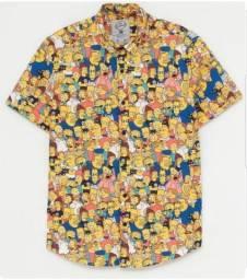 Título do anúncio: Camisa de botão Os simpsons