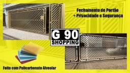 Fechamento de Portão em Policarbonato Alveolar - G90 Shopping