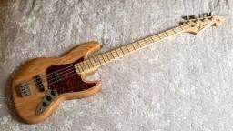 Baixo Sx Vtg Sjb-75 Jazz Bass Corpo Em Ash Perfeito