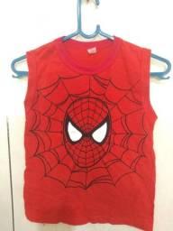 Camisetas do Homem Aranha infantil