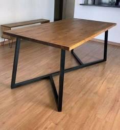 Mesas de ferro rústicas