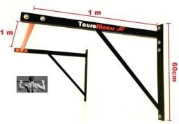 Barra fixa grande profissional reforçada - crossfit - 1 m da parede - direto da fábrica