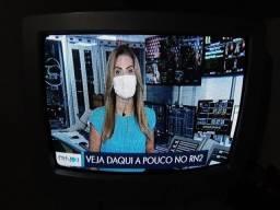 Tv lg 21polegadas tubo  com conversor e controle
