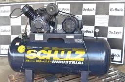 Título do anúncio: Compressor de Ar Schulz 350 Litros 175 Libras 220/380V Trif