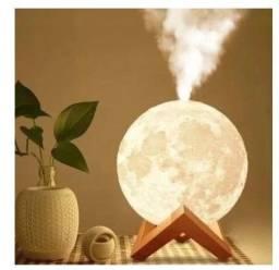 Umidificador Aromatizador Luminária abajur Lua Cheia 3d