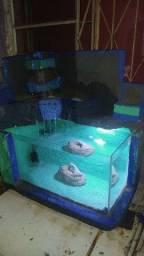 Vendo aquário artesanal 30litros