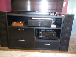 Rack Funcional para TV/Som/Receiver/Home Theater
