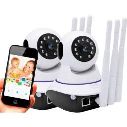 Câmera IP wi-fi completa 3 antenas grande promoção