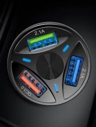 Carregador de telefone 3.0 3.1 portas usb carregamento rapido