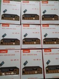 amplificador de som bluetooth,radio fm, 110 volts na tomada