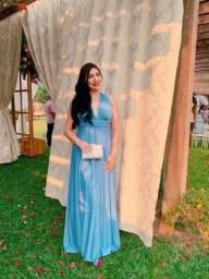 Título do anúncio: Vendo vestido multiformas AZUL SERENITY TAM: ÚNICO