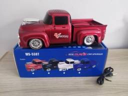 Caixa de som Bluetooth Camionete Vermelha