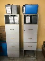 Arquivos em Mdf com 4 gavetas