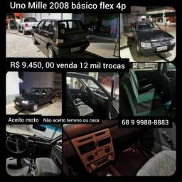 Uno Mille 2008 básico 4 portas flex - 2008