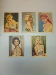 Cartões postais com fotos de atrizes de Hollywood