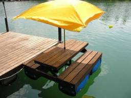 Fabricamos Pier flutuante de tambor, (valor do m² $1,380) em até 10x cartão