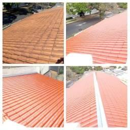 Limpeza e impermeabilização de telhados