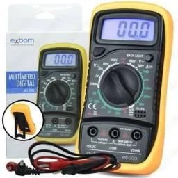 Multímetros Digital Profissional Portátil C/ Bateria 200l