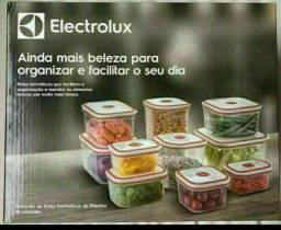 kit de potes de plástico Electrolux com 10 unidades