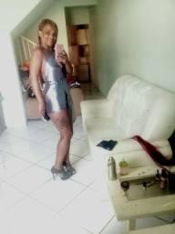 Vestido prata com brilho
