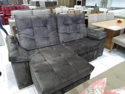 Sofa retratil e reclinavel, 2,30 molas ensacadas, ultina peça do mostruario