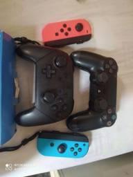 Título do anúncio: Controle PS4 paralelo,controle PS4 original controle switch pro controller,joycon Joy