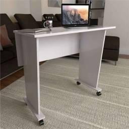 Mesa para estudo com rodízio branco nova